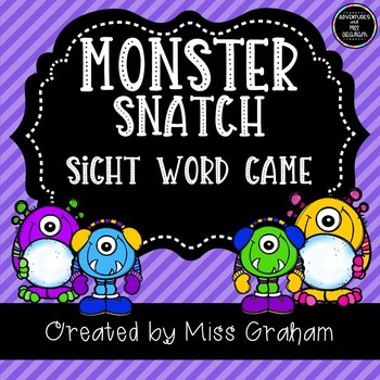 Monster Snatch Sight Word Game