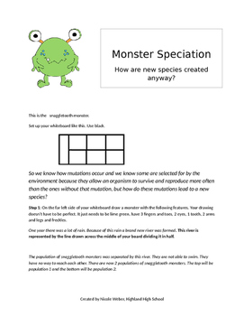 Monster Speciation