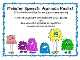 Monster Speech:  Apraxia Packet for Early Sound Sequencing