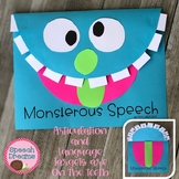 Monster Speech Craft (articulation language) Craftivity