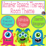 Monster Speech Therapy Room Decorations