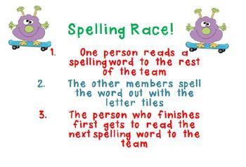 Monster Spelling Race Center