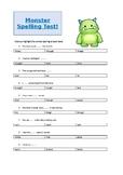 Monster Spelling Test