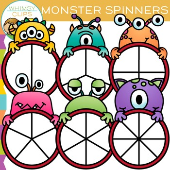 Monster Spinners Clip Art