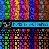 Monster Spot Papers {Creative Clips Digital Clipart}