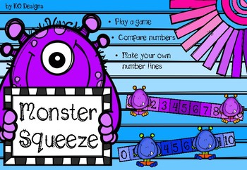 Monster Squeeze Game: Comparing Numbers to 10