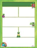 Monster St Patrick's Day Newsletter for Word