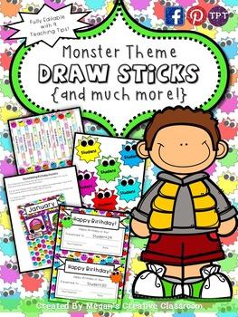 FREE Monster Sticks & More Classroom Essentials {Summer Ce