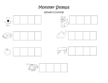 Monster Stomp (Syllable Counting)