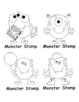 Monster Stomp reading game