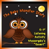 Halloween Activity for Elementary Music: Baby Monster Stor