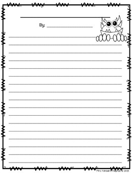 Monster Story Writing Prompt FREEBIE