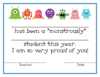 Monster Student Award