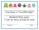 Monster Student Award