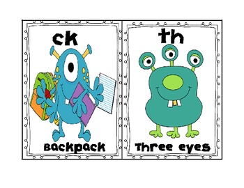 Monster Style Digraphs in Short Vowel Word Families