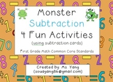 Monster Subtraction 4 Fun Activities