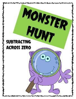 Monster Subtraction Scavenger Hunt