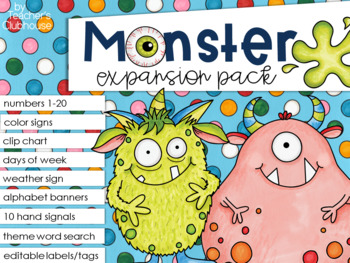 Monster TWO Theme Decor {Expansion Pack}