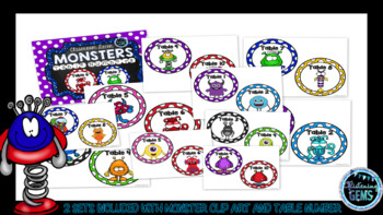 Monster Table Numbers - Classroom Decor