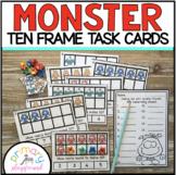 Monster Ten Frame Task Cards Making Ten with Monster Friends