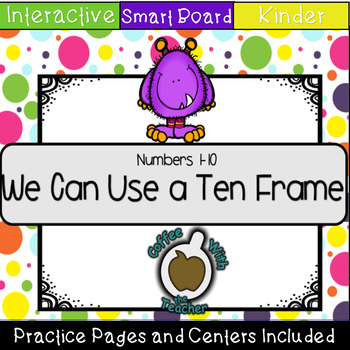 Monster Ten Frames Numbers 1-10 (SMART Notebook)