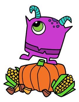 Monster Thanksgiving Clipart