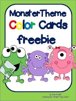 Monster Theme Color Card Set Freebie