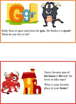 Monster Theme ABC Flashcards and Writing Practice
