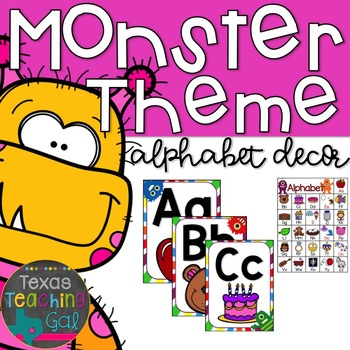 Monster Theme Alphabet Decor