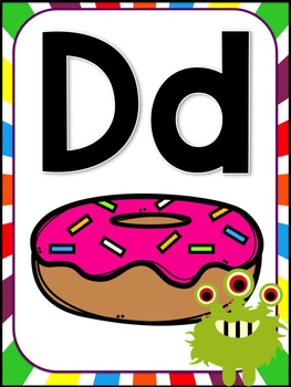 Monster Theme Alphabet Decor