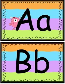 Monster Theme Alphabet Line