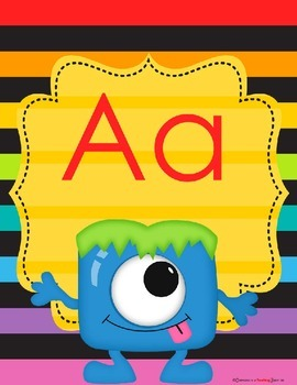 Monster Theme Alphabet Poster Bundle – 3 Complete Sets
