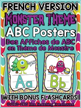 Monster Theme Alphabet Posters FRENCH VERSION