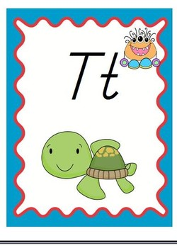Monster Theme Alphabet Posters With Pictures