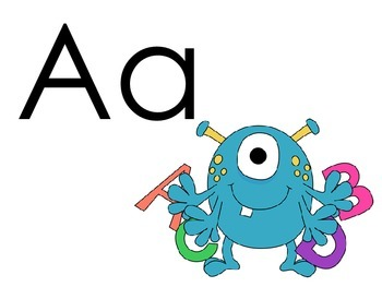 Monster Theme Alphabet Signs