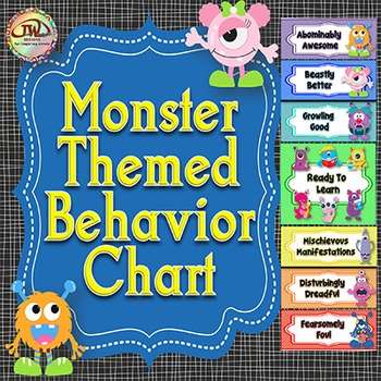 Behavior Charts / Clip Charts - MONSTERS Themed - 2 Styles Included