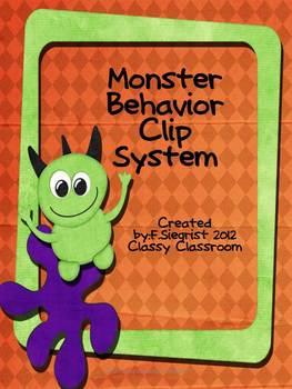 Monster Theme Behavior Cip Chart System