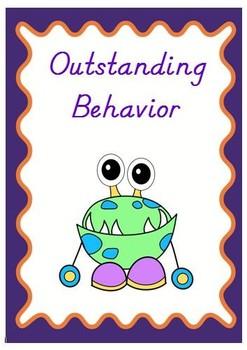 Monster Theme Behavior Clip Chart