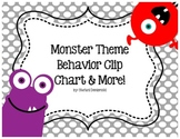 Monster Theme Behavior Clip Chart and MORE!