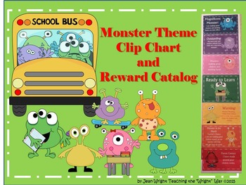 Monster Theme Behavior Clip Chart and Reward Catalog