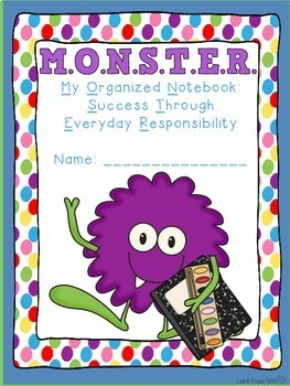 Monster Theme Binder Covers