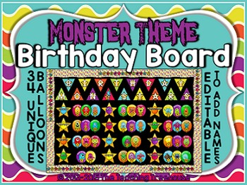 Monster Theme Birthday Board