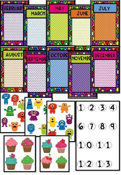 Monster Theme Birthday Posters for Birthday Board