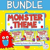 Monster Theme Bundle - Decor, Reading Posters, & Binder Covers
