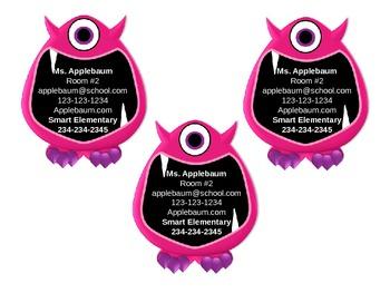 Monster Theme Business Cards II {Editable}