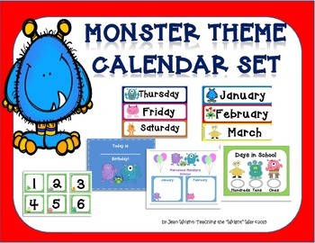 Monster Theme Calendar Set