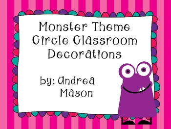 Monster Theme Circle Classroom Decorations - 4 inch