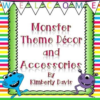 Monster Theme Class Decor