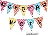 Monster Theme Classroom Banner (MonSTAR Work!)