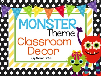 Monster Theme Classroom Basic Decor